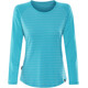 Mountain Equipment Redline LS Tee Women Digital Blue Stripe/Digital Blue